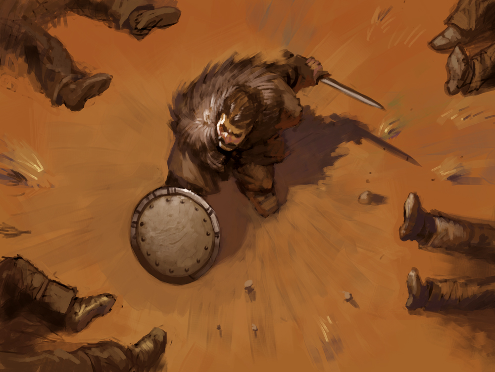 It's the artwork from the new Scroll. It's called Blind Rage. Cool eh?