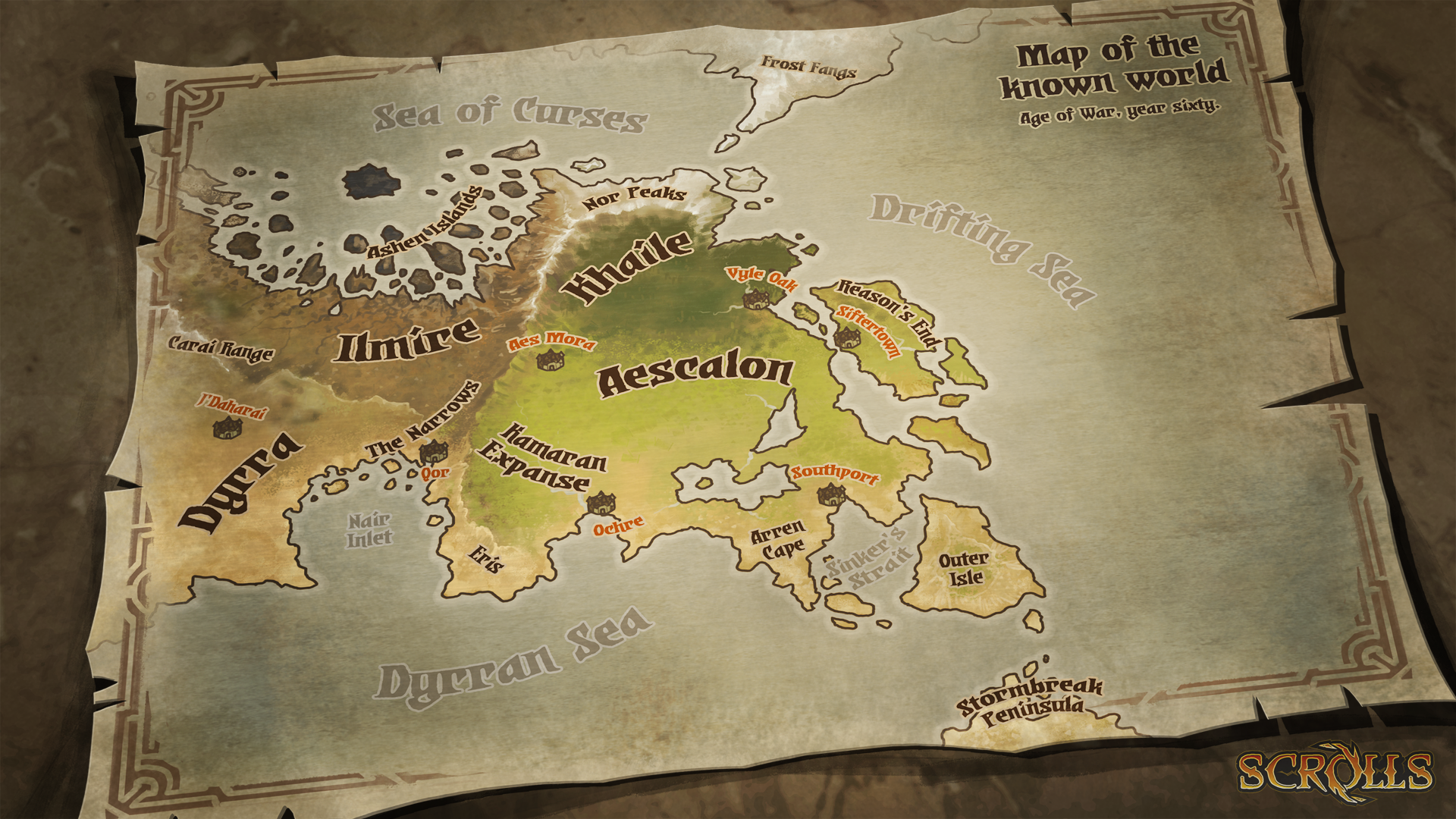 Scrolls World Map